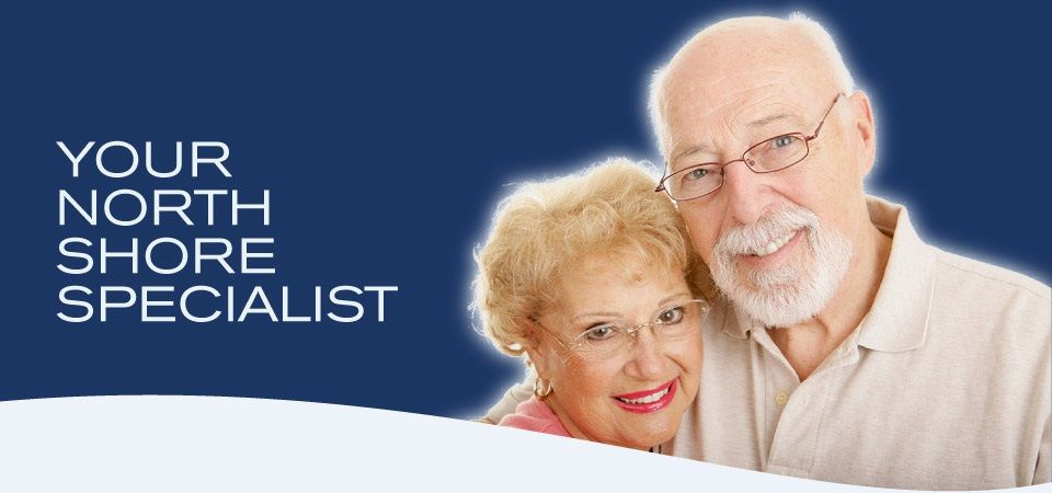 Your North Shore Specialist | Older couple with eyeglasses