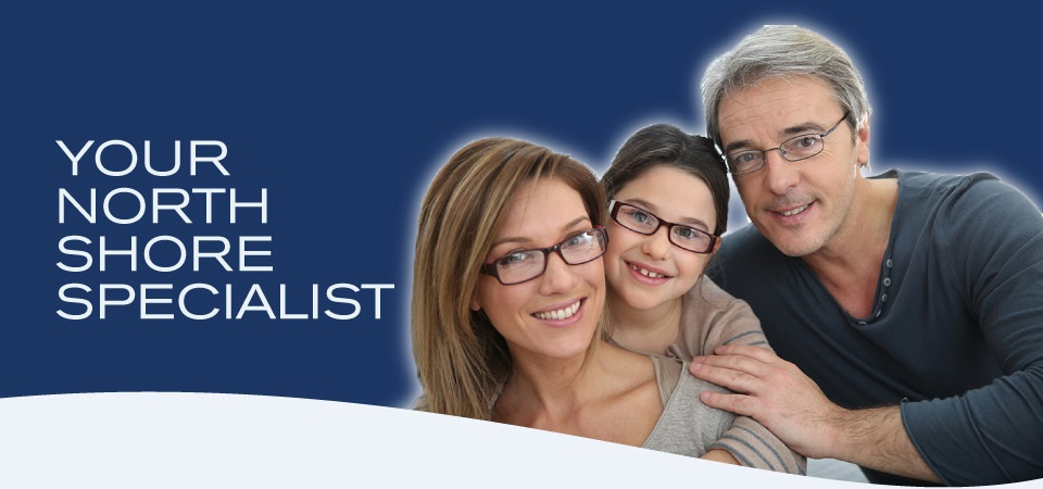 Your North Shore Specialist | Family with glasses